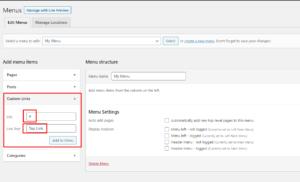 Custom Menu in WordPress